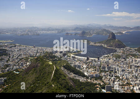 Cove of Botafogo in Guanabara Bay - Pao de Acucar and Morro da Urca - Stock Photo