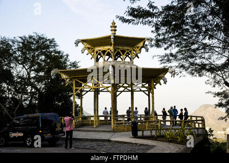 Chinese View in Bairro Alto da Boa Vista - National Park of Tijuca Forest - Stock Photo