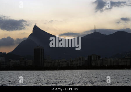Christ the Redeemer and Corcovado Mountain - Stock Photo