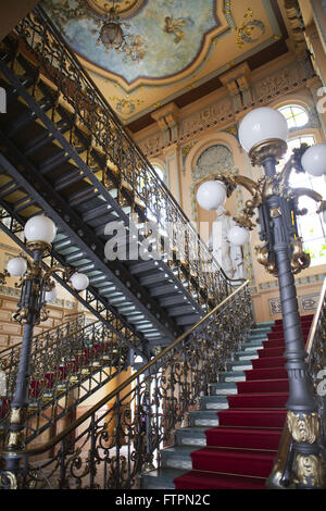 Staircase at the Memorial of the Rulers - Palacio Rio Branco - former seat of government of Bahia - Stock Photo