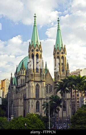 Catedral Metropolitana de Sao Paulo ou Catedral da Se no centro historico da capital - Stock Photo