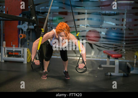 Girl in the gym, fitness - Stock Photo