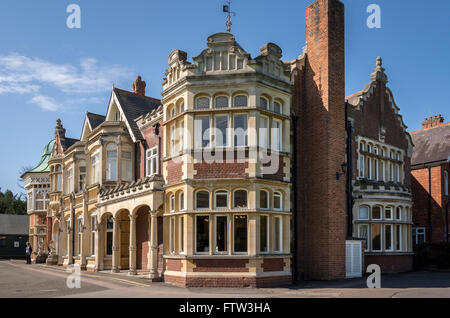 Bletchley Park Mansion was home to the code-breakers in WWII - Stock Photo