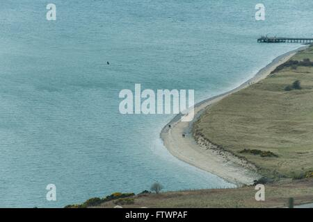 Cromarty Firth view of nigg beach - Stock Photo