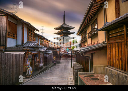Kyoto, Japan old city at Yasaka Pagoda. - Stock Photo