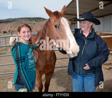 Albuquerque, NM, USA. 29th Mar, 2016. Tristin King of Salt Lake City, UT. along with Connie Collis of the Tamaya - Stock Photo