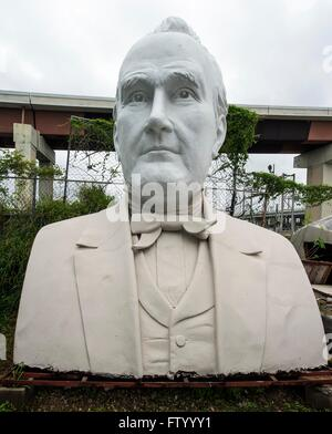 March 30, 2016 - Houston, Texas, U.S. -  Presidential heads by sculptor David Adickes are stored at the Adickes Sculpturworx Studio until a time when a permanent home is found for them.(Credit Image: © Brian Cahn via ZUMA Wire)