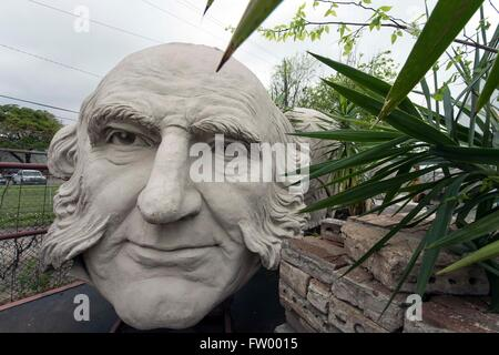 Houston, Texas, USA. 30th Mar, 2016. Presidential heads by sculptor David Adickes are stored at the Adickes Sculpturworx Studio until a time when a permanent home is found for them. Credit:  Brian Cahn/ZUMA Wire/Alamy Live News
