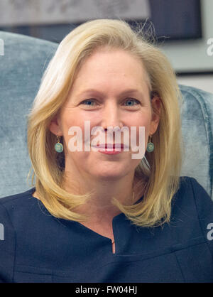 Washington DC, USA. 30th March, 2016. United States Senator Kirsten Gillibrand (Democrat of New York) as she meets - Stock Photo
