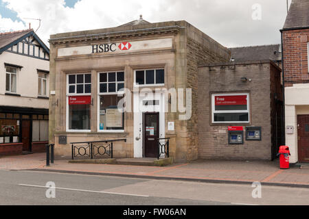 Chirk, Wrexham, North East Wales, UK. 31st March, 2016. The final week of the HSBC branch in Chirk North Wales first - Stock Photo