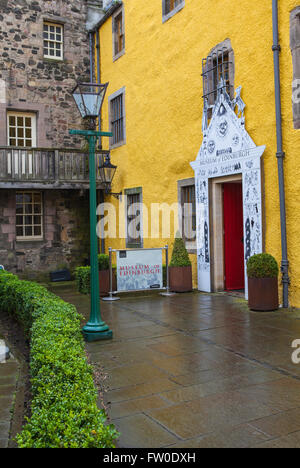 EDINBURGH, SCOTLAND - MARCH 12TH 2016: The main entrance to the Museum of Edinburgh situated on Canongate along - Stock Photo