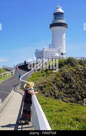 Cape Byron Light House at most easterly point in Australia. - Stock Photo