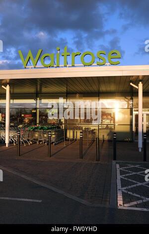 Waitrose Store (Stratford-upon-Avon, England, UK, Europe) - Stock Photo