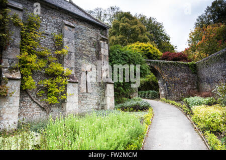 Buckland Monachorum, United Kingdom - October 8, 2015: Buckland Abbey, Garden and Estate, a National Trust property - Stock Photo