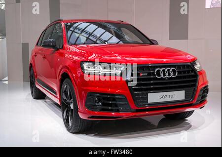 Audi SQ7 TDI, built in 2016, Audi Forum event, Ingolstadt, Bavaria, Germany - Stock Photo