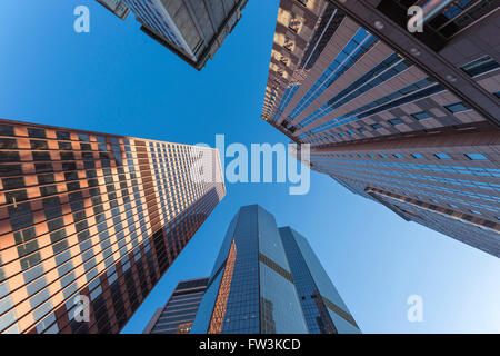 SKYSCRAPERS DOWNTOWN PITTSBURGH PENNSYLVANIA USA - Stock Photo