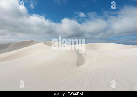 Sand dunes near Wylie Bay in the east of Esperance, Western Australia - Stock Photo