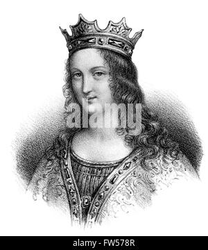Adelaide-Blanche of Anjou, c.  940-1026, wife to Louis V, called The Lazy; c. 966/67-987, King of Western Francia - Stock Photo