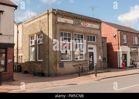 Chirk, Wrexham, North East Wales, UK. 31st March, 2016. The final week of the HSBC branch in Chirk North Wales - Stock Photo