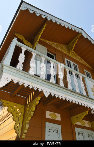 Swiss chalet where Charles Dickens, English novelist, wrote in the upper room, at his home in Gad's Hill Place, - Stock Photo