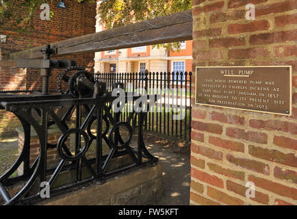 Horse-powered well pump installed by Charles Dickens in his home, Gad's Hill Place, Higham, Rochester in 1857; now - Stock Photo