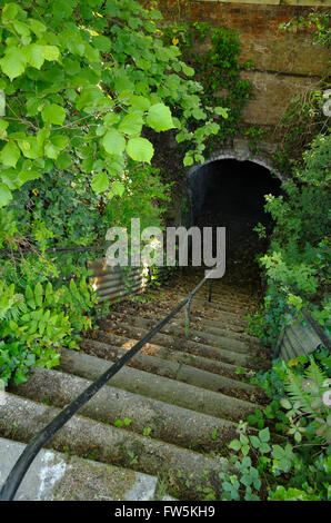 Gad's Hill Place, Higham, above Rochester, Kent: the tunnel under the Gravesend Road, A226, that connected the home - Stock Photo