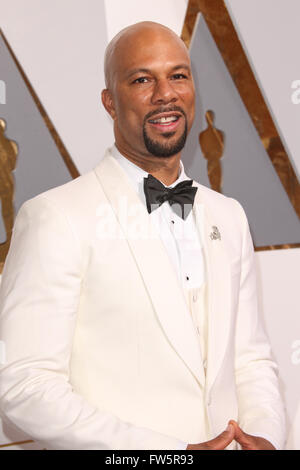 88th Annual Academy Awards at the Dolby Theatre  Featuring: Common Where: Hollywood, California, United States When: - Stock Photo
