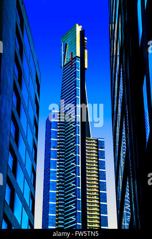 Eureka Tower is a 297.3 metre skyscraper located in the Southbank precinct of Melbourne, Victoria, Australia. - Stock Photo