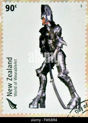 NEW ZEALAND - CIRCA 2004: Stamps printed in New Zealand dedicated to World of WearableArt shows Persephone's Descent - Stock Photo