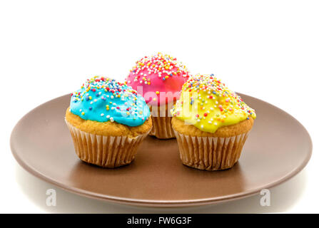 Cupcakes on plate - Stock Photo
