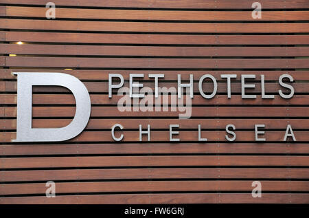 D pet Hotels Chelsea, Manhattan, New York City, USA - Stock Photo