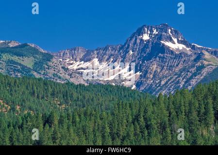gray wolf mountain in the mission range near st. ignatius, montana - Stock Photo