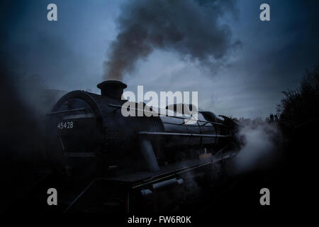 Dramatic Steam Train - Stock Photo