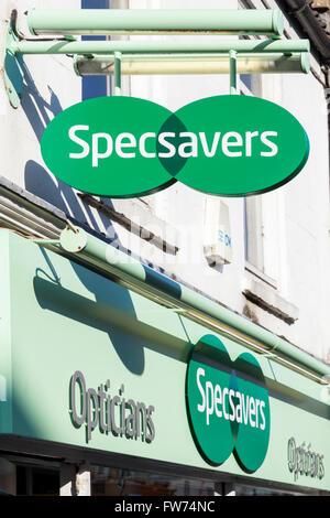 Specsavers shop sign, England, UK - Stock Photo