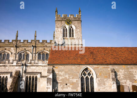 St Peters church, Wootton Wawen, Warwickshire, England - Stock Photo