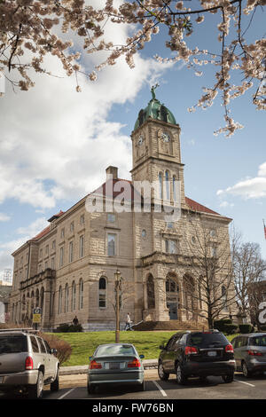 Rockingham County Circuit Court House, Court Square, Harrisonburg, Shenandoah Valley, Virginia, USA. - Stock Photo