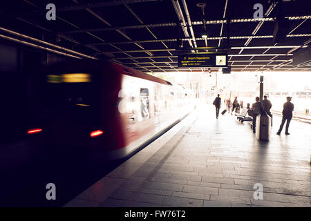 S-Bahn train in Hamburg - Stock Photo