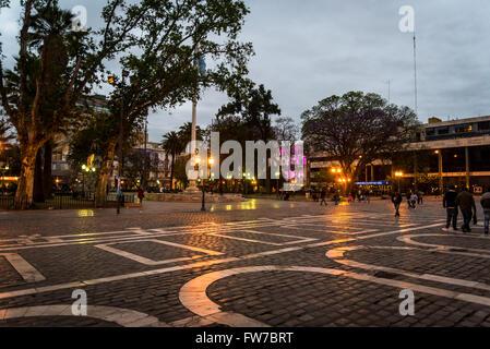Plaza San Martin, Cordoba, Argentina - Stock Photo