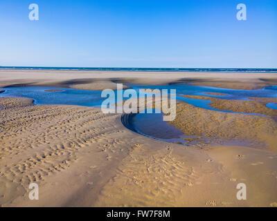 Langeoog Beach Structure during ebb - Stock Photo