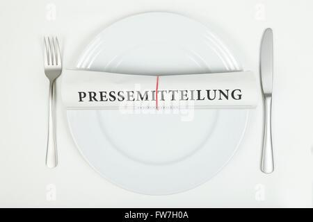 Press release (in german) - Stock Photo
