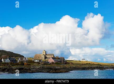 Iona Abbey, Isle of Iona, Inner Hebrides, Scotland UK - Stock Photo