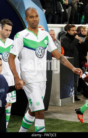 Naldo of VFL  Wolfsburg during the match league champion VLF Wolfsburg - PSV Eindhoven at Volkswagen Arena,wolfsburg - Stock Photo