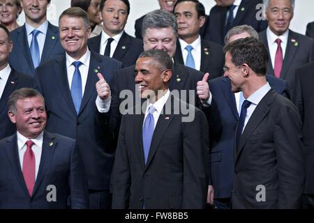 April 1, 2016 - Washington, District of Columbia, United States of America - Petro Poroshenko, Ukraine's president, - Stock Photo
