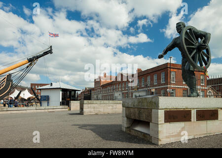 Portsmouth Historic Dockyard, Hampshire, England. - Stock Photo