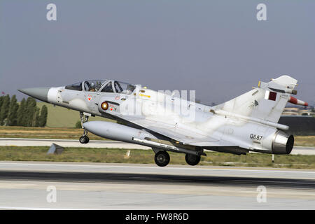 A Qatar Emiri Air Force Mirage 2000-5EDA/5DDA attending the international Exercise Anatolian Eagle 2014-2 in Konya, - Stock Photo