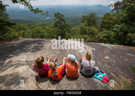 Hiking Table Rock Mountain At State Park In South Carolina This Is The