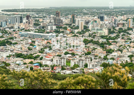 View across Port Louis, the capital of Mauritius. - Stock Photo