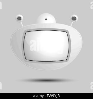 Speech bubbles robots television for text. A vector illustration. - Stock Photo