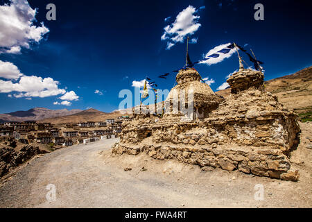 India a monastery in the mountains of Himachal Pradesh - Stock Photo