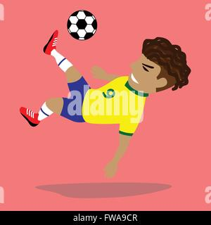 Vector illustration Soccer player - Stock Photo